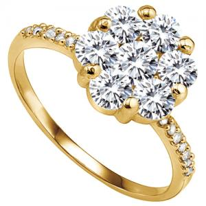 VS CLARITY ! 1.05 CT DIAMOND MOISSANITE & DIAMOND 14KT SOLID GOLD ENGAGEMENT RING