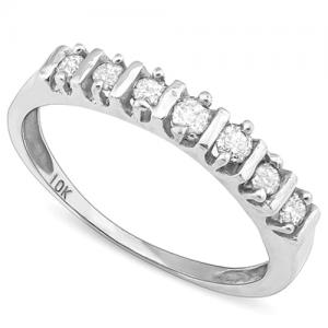VS CLARITY ! 1/4 CT DIAMOND 10KT SOLID GOLD BAND RING