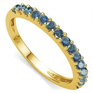 1/2 CARAT BLUE DIAMOND 14KT SOLID GOLD ENGAGEMENT RING