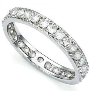 1.02 CT DIAMOND 10KT SOLID GOLD ETERNITY RING