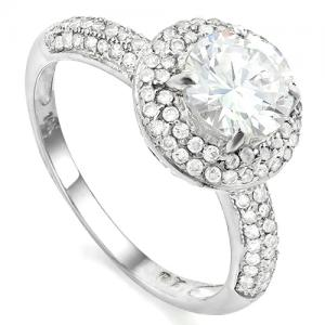 1.82 CT LAB CREATED DIAMOND (VVS) SOLITAIRE 10KT SOLID GOLD ENGAGEMENT RING