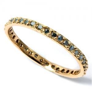 1/4 CARAT BLUE DIAMOND 14KT SOLID GOLD ETERTNITY RING