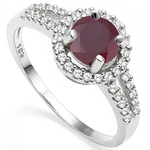 1.20 CT RUBY & 1/5 CT DIAMOND 10KT SOLID GOLD RING