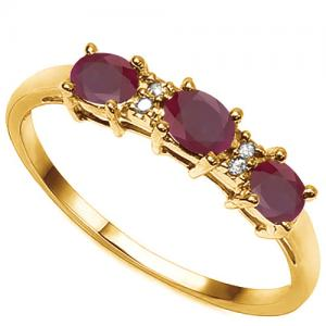 1/2 CT RUBY & DIAMOND 10KT SOLID GOLD RING