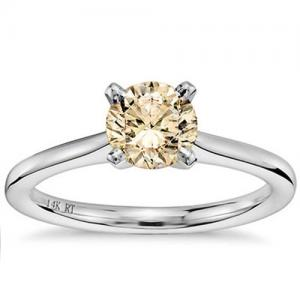 4MM CHOCOLATE DIAMOND SOLITAIRE 14KT SOLID GOLD ENGAGEMENT RING