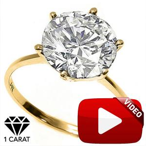 RING SIZE 8 ! 1.01 CT DIAMOND SOLITAIRE 14KT SOLID GOLD ENGAGEMENT RING