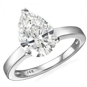 3.00 CT LAB CREATED DIAMOND (VS) SOLITAIRE 14KT SOLID GOLD ENGAGEMENT RING