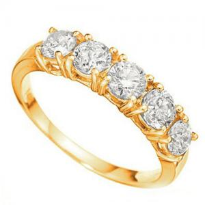 2.31 CT LAB CREATED DIAMOND (VVS) 14KT SOLID GOLD ENGAGEMENT RING